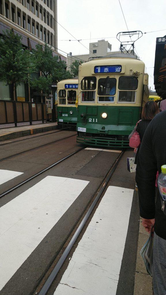 赤迫行き路面電車