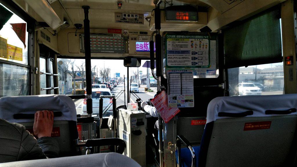 豊後高田市内の車窓