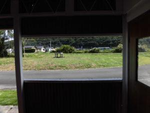 窓修理作業前