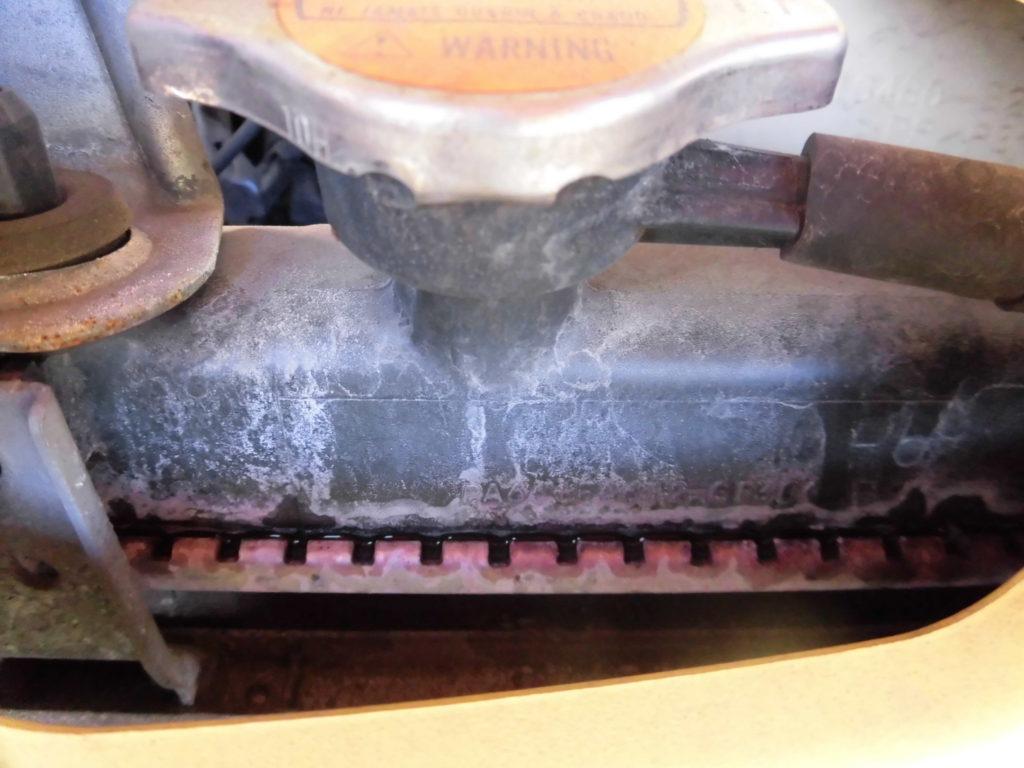 エッセラジエーター水漏れ